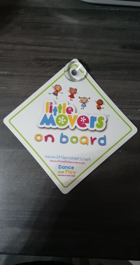 Little Movers on Board Car Sign