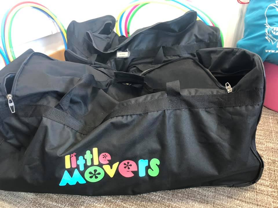 Little Movers Large black trolley Bag